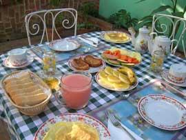 Desayuno casa Gustavo en Trinidad