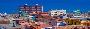 Town seen from El Castillo hotel - in March 2017