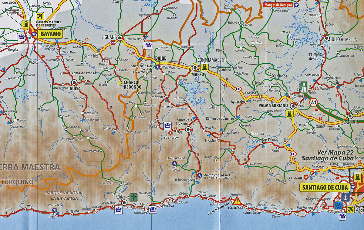 Mapa Santiago Bayamo wwwparticubanet