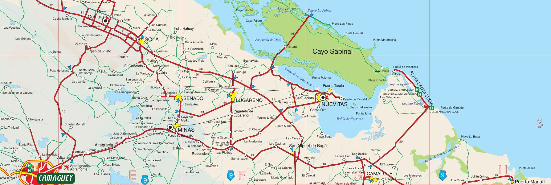 Mapa Camaguey Cayo Sabinal Playa Santa Lucia wwwparticubanet