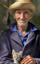 Orlando Garcia : Portrait of an elderly man ENLARGE