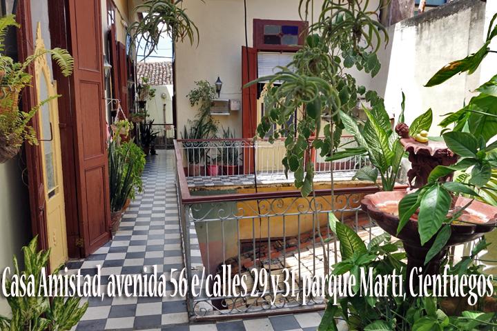 CASA AMISTAD - FRIENDSHIP HOUSE | www.cubacasas.net | Cienfuegos