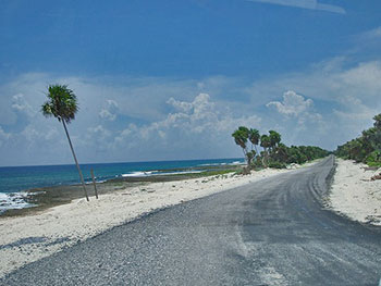 The road going to the very end of Cuba stretches for over 60 km