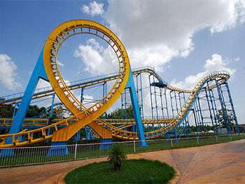 Parc d'amusement Mariposa, montagne russe / Amusement Park