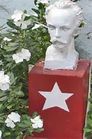 Buste de José Marti dans le Barrio Chino