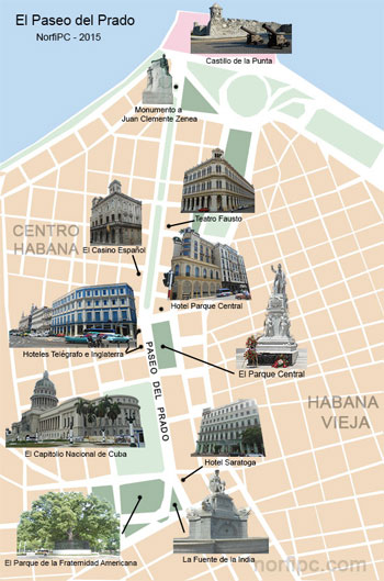 Mapa zona 5 habana vieja capitolio for Calle neptuno e prado y zulueta habana vieja habana cuba