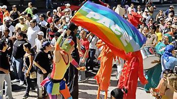 Primera conga gay de La Habana 16 May 2009