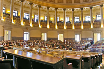 The old Asemblea Nacional located in the Capitolio is a sight to behold