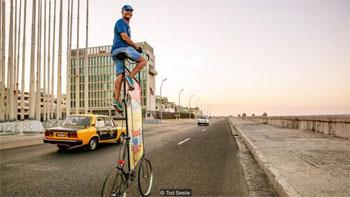 Building the world's tallest bike