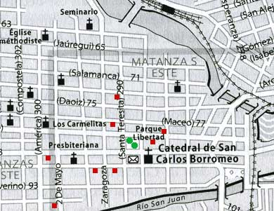 Map of city with casas. © Footprint Handbooks