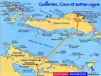Mapa Cayos