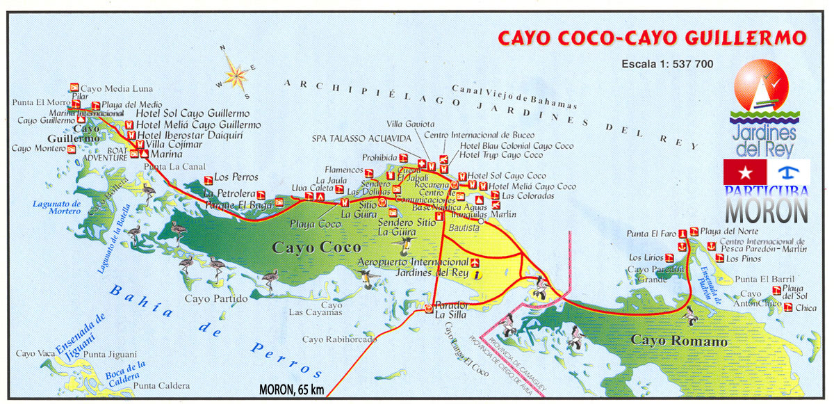Cayo Largo Cuba Mapa.Mapa Cayo Guillermo Cayo Coco Cayo Romano Www Particuba Net