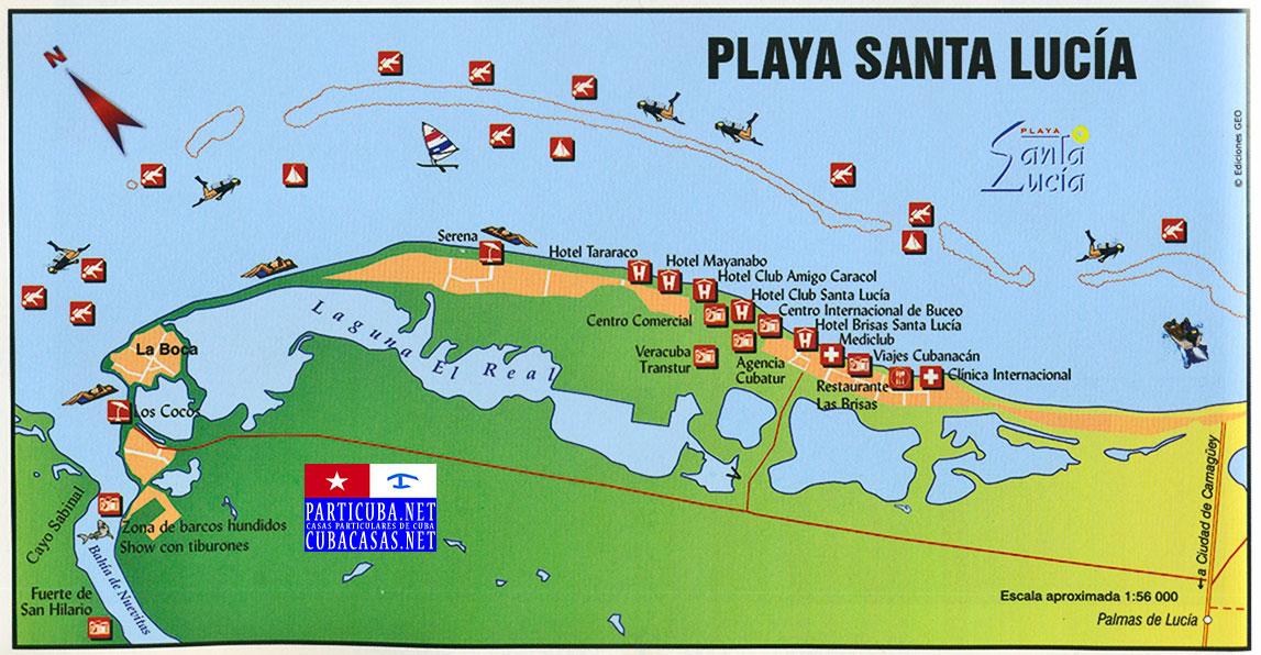 Playa Santa Lucia wwwcubacasasnet Nuevitas Camaguey