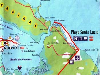 Map Sabinal and Santa Lucia