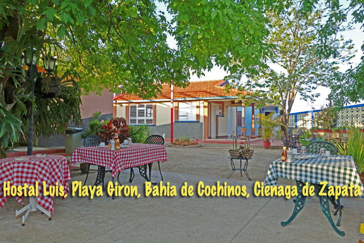 HOSTAL LUIS • cubacasas.net •|• Zapata • Playa Giron © sogestour