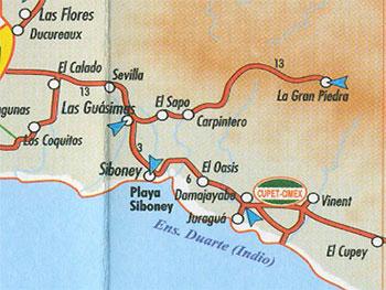 Mapa Siboney-Baconao cubanacan