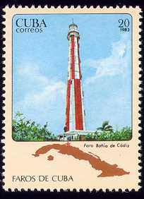 « Faro Bahia de Cadiz », timbre de 1983 d'une série cubaine sur les phares
