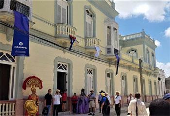 Ré-ouverture de l'hôtel Palacio Arenas Armiñan, considéré comme une des 7 merveilles d'architecture de la province, le 15 mai 2018 © Nelvega, EcuRed