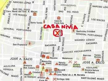 Mapa Casa Nivia Santiago
