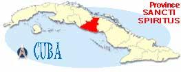 Map of provincia sancti spiritus
